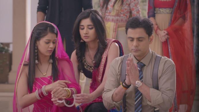 Still from Guddan Tumse Na Ho Payega with Vikrant and Alisha