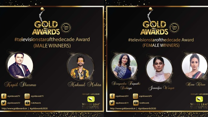 Gold Awards 2020: Nakuul Mehta and Jennifer Winget Win ...