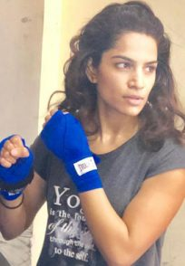 Shikha Singh's kickboxing training