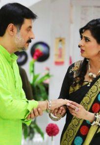 Akhilandeshwari with her husband