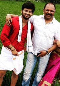 Ashwini on the sets of Oru Oorla Oru Rajakumari