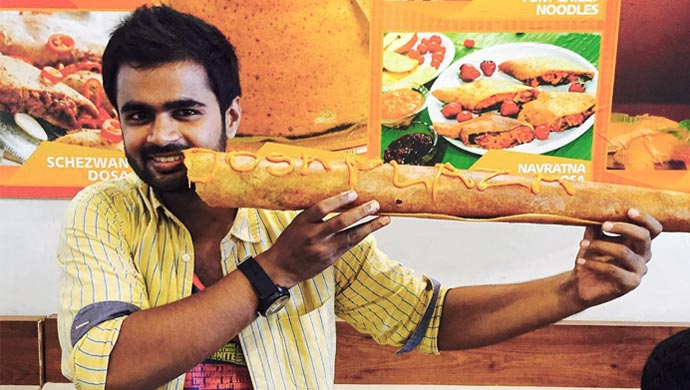 Madhan Pandian at a Dosa restaurant