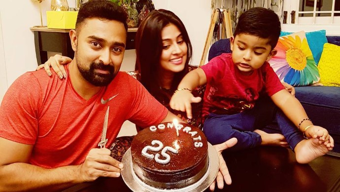 Prasanna and Sneha with Vihaan