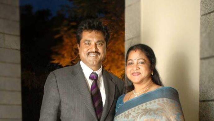 Radhika Sarathkumar and Sarathkumar