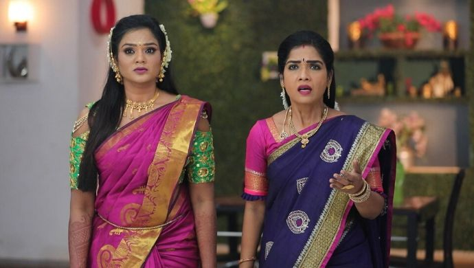 Vanaja and Mithra look on in dismay as their plans to win the election fail