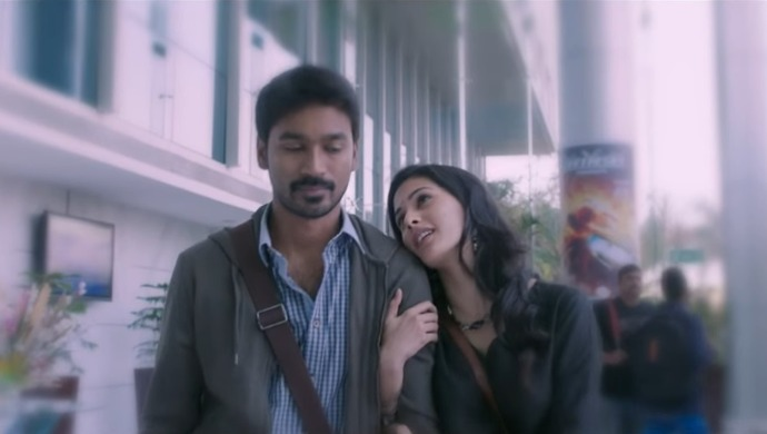 A still from the song Thodu Vaanam