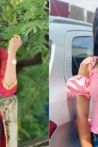 Actresses Rachitha and Ayesha