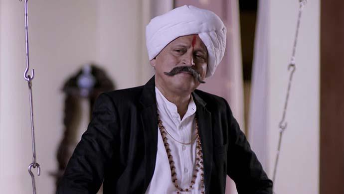 Baapmanus actor Ravindra Mankani in a scene from the show.