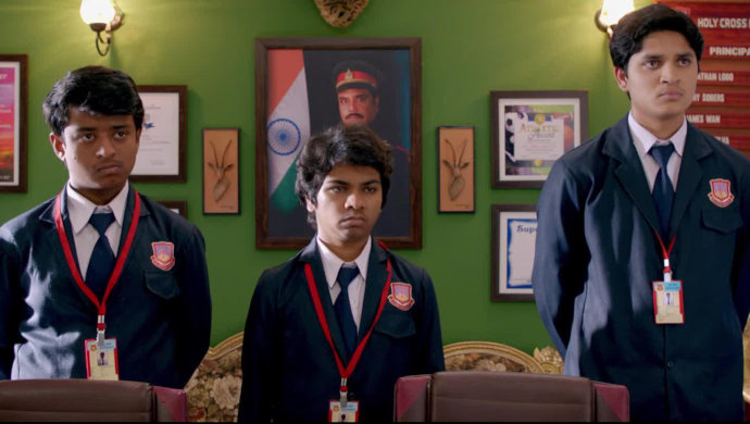 Pratik Lad, Parth Bhalerao and Sumant Shinde in a still from Boyz.