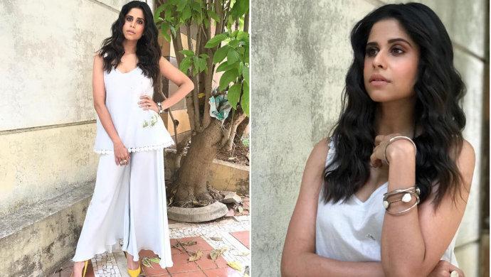 Sai Tamhankar wears white-on-white trend.