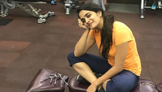 A Still Of Patil Actress Bhagyashree Mote