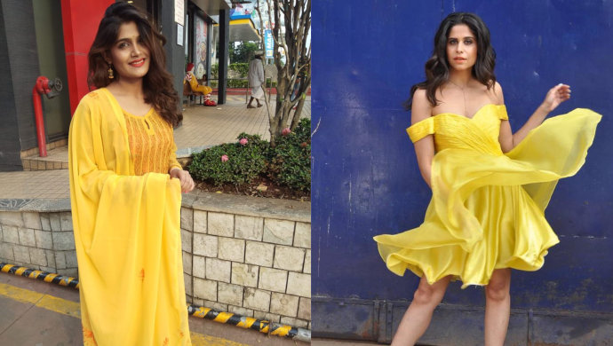 Isha Keskar and Sai Tamhankar show bright yellow trend.