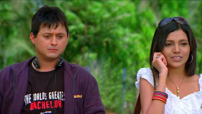 Swapnil Joshi and Mukta Barve from the film Mumbai Pune Mumbai.