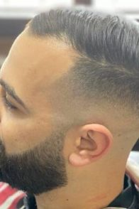 Men hairstyle feature