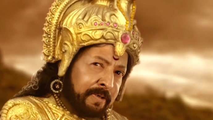 A Still Of Dr Vishnuvardhan Recreated Through CGI In Nagarahavu