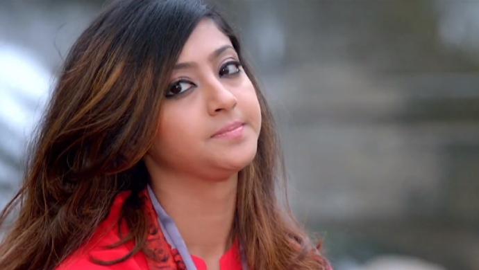 Aindrita Ray In A Still From Melkote Manja