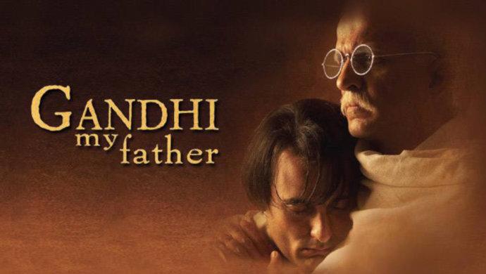 Akshaye Khanna And Darshan Jariwala In A Still From Gandhi My Father
