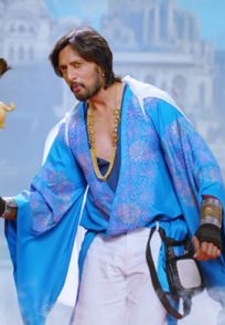 Kiccha In A Krishna Outfit In The Villain