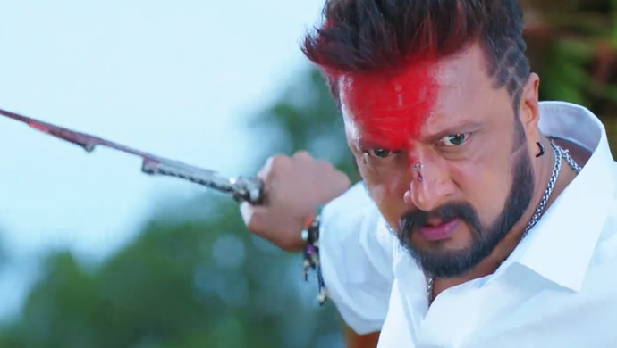 Kiccha Sudeep Aka Ram In A Still From The Villain