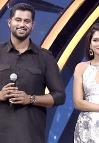 A Still Of Abishek Ambareesh And Tanya For The Promotion Of Their Film Amar