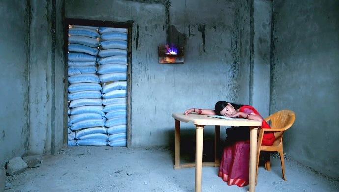 A Still Of Amulya Sleeping