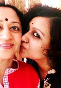 An Adorable Still Of Prathama Prasad And Her Evergreen Mommy Vinaya Prasad