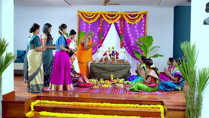 Paaru Completes The Gandan Pooje