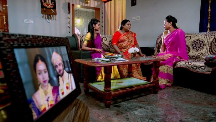 A Still Of Amulya And Parimala At Sharada's House