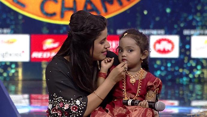A Still Of Hostess Anushree And Gnana
