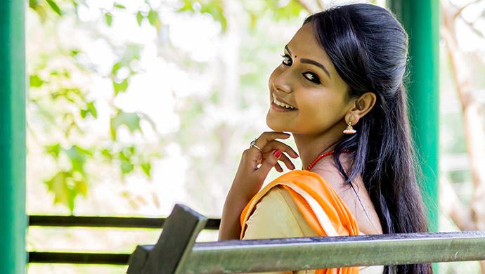 An EXCLUSIVE Smiling Still Of Nisha Ravikrishnan Aka Amulya Manjunath From Gattimela