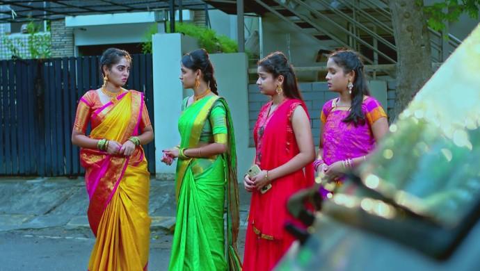A Still Of Aarthi, Amulya, Adithi And Anjali