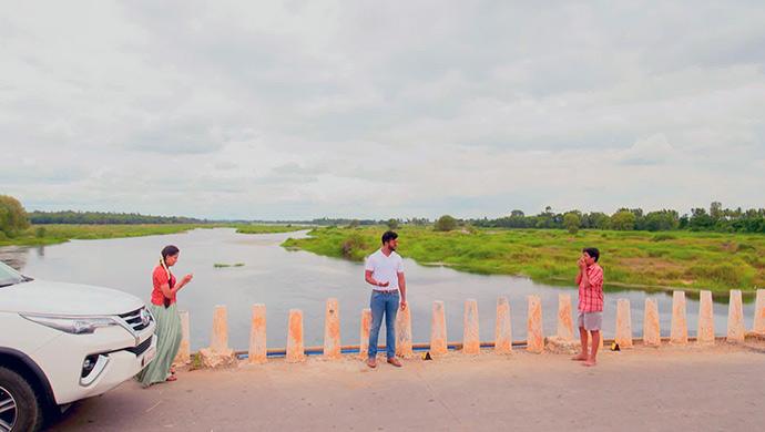 A Still Of Paaru, Aditya And Gani