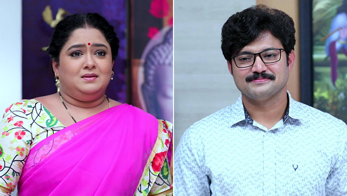 A Still Of Subbalakshmi (Left) And Arun Prasad (Right)