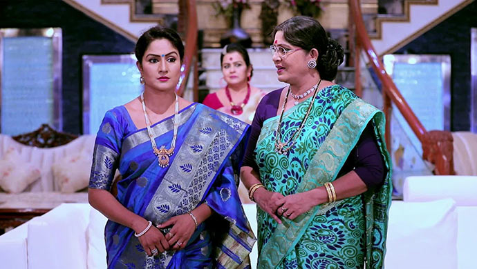 A Still Of Tara, Kamini And Annapoorna
