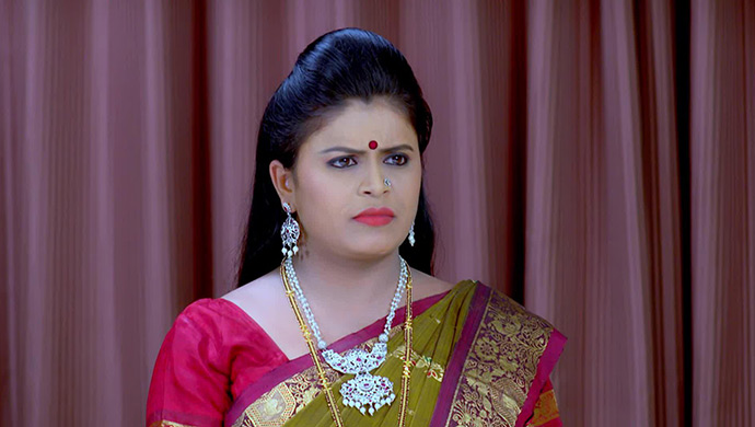 A Still Of When Damini Looks At Akhila In Disbelief