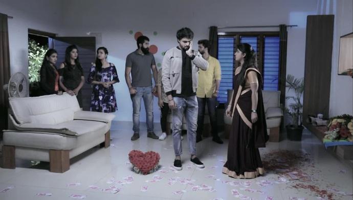 A Still Of When Radha Slaps Shri Krishna For Insulting Her