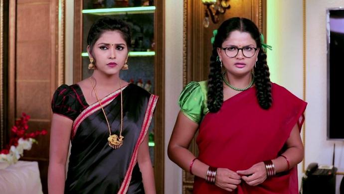 A Worried Still Of Kamali And Ningi