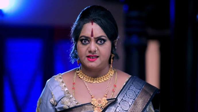 An Angry Still Of Kathraguppe Kanthamma