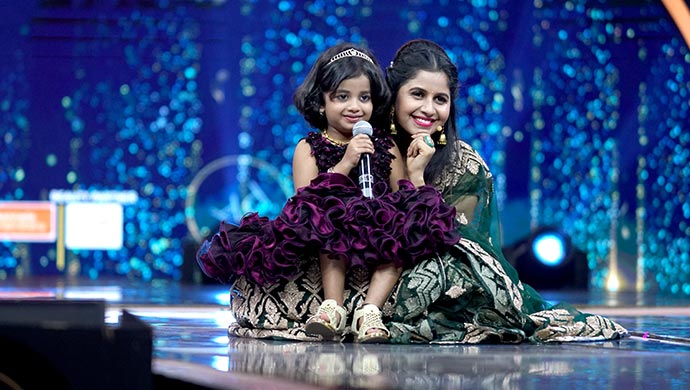 An Exclusive Still Of Parnika And Anushree On Stage
