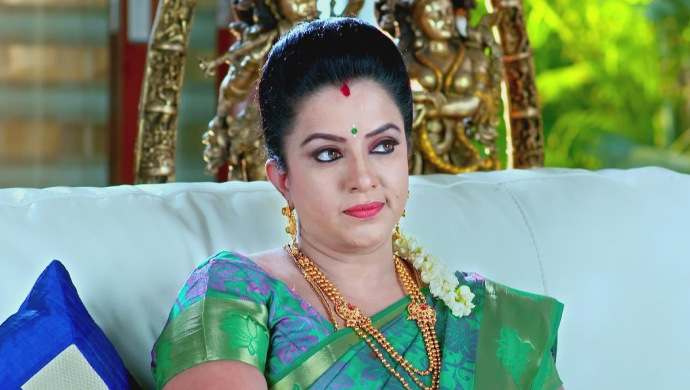 A Smirking Still Of Suhasini