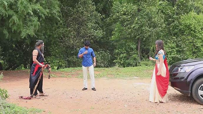 A Still Of Bhairava, Arjun And Urmila