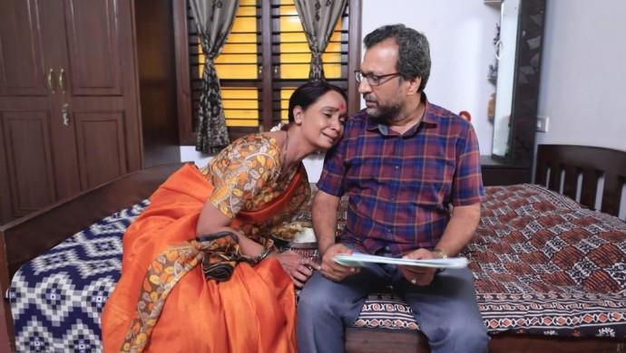 An Emotional Still Of Tulasi And Prasad