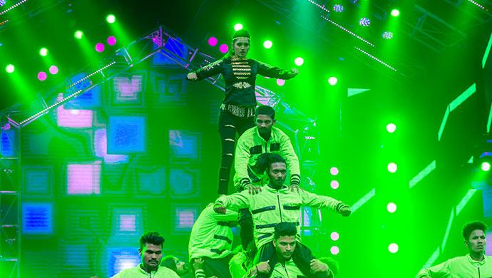 An Exclusive Pranathi From Bramhagantu Performing On Stage