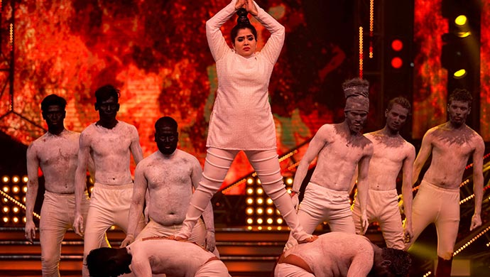 An Exclusive Still Of Anupama Performing On Stage