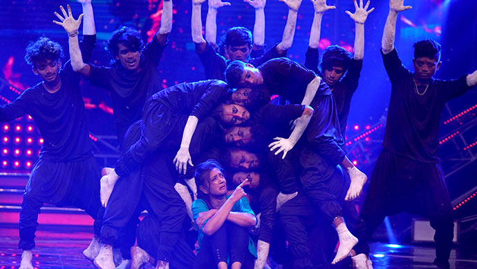 An Exclusive Still Of Pranathi Performing On Stage