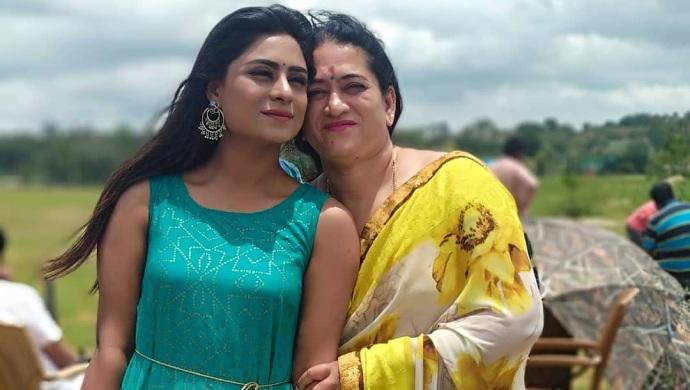 A Still Of Deepika Das And Her Mother