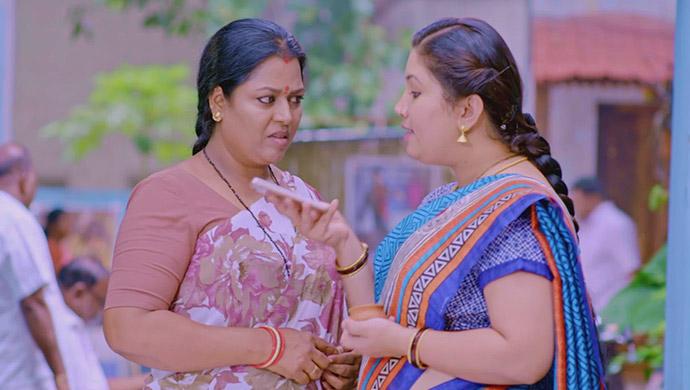 A Still Of Pushpa And Rajani