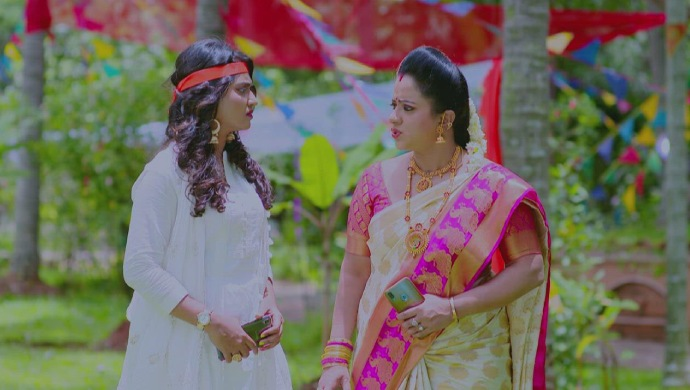 A Still Of Sarika And Suhasini