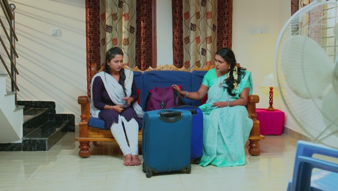 A Still Of Swathi And Her Mother