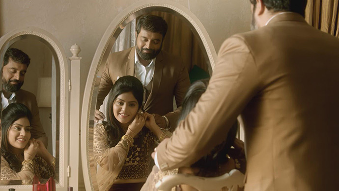 Anu And Aaryavardhan In A Still From Jothe Jotheyali